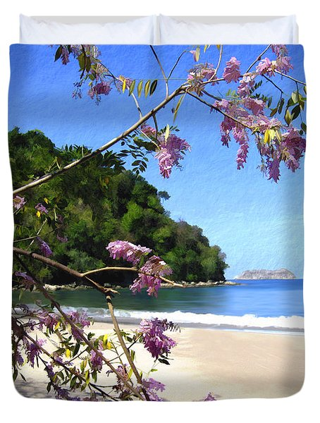 Playa Espadillia Sur Manuel Antonio National Park Costa Rica Duvet Cover by Kurt Van Wagner