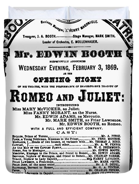 Playbill, 1869 Duvet Cover