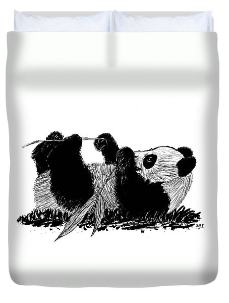 Playful Panda Duvet Cover