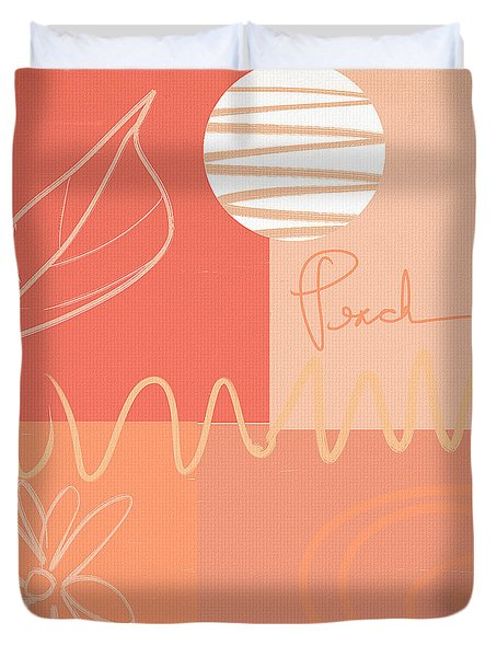 Playful Peach Duvet Cover