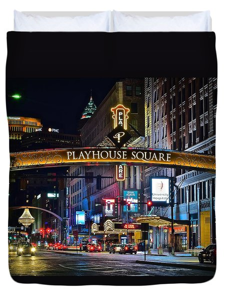 Playhouse Square Duvet Cover