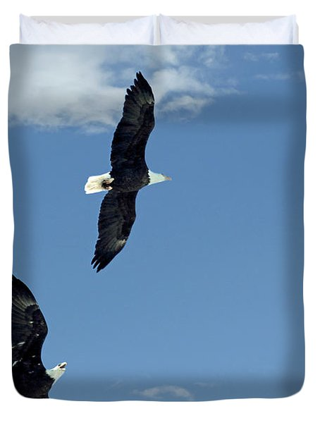 Playing Tag Duvet Cover by Bob Hislop