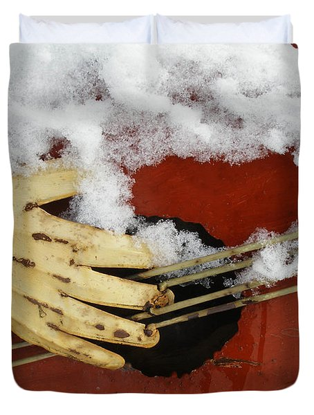 Playing The Cold Blues Duvet Cover