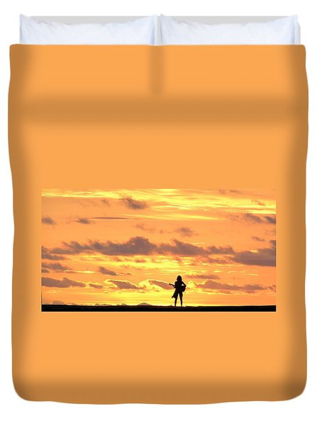 Playing To The Sun Duvet Cover