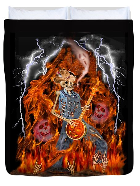 Playing With Fire Duvet Cover by Glenn Holbrook
