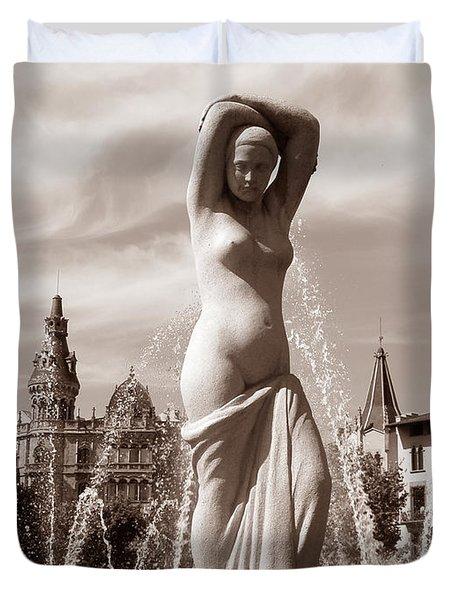Plaza Cataluna Duvet Cover