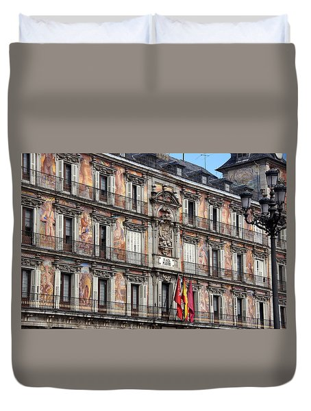 Plaza Mayor Duvet Cover by Debi Demetrion