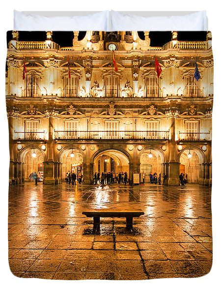 Plaza Mayor In Salamanca Duvet Cover