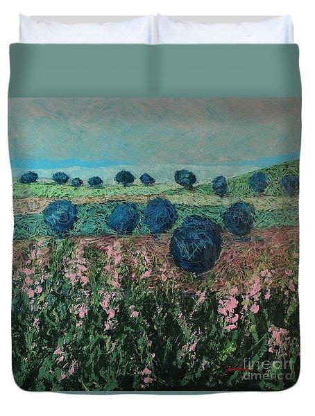 Pleasant Meadows Duvet Cover by Allan P Friedlander