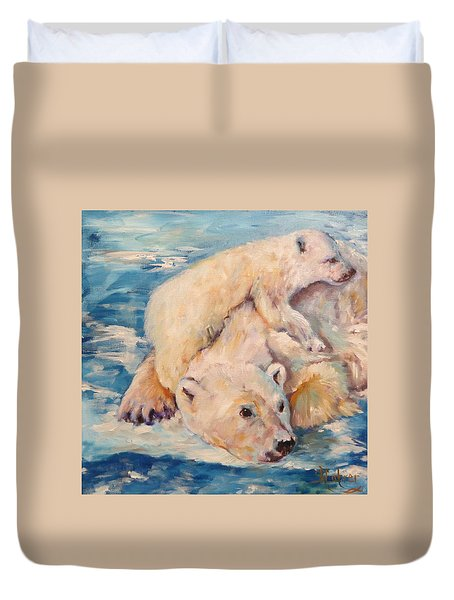 You Need Another Nap, Polar Bears Duvet Cover