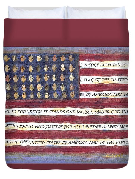 Pledge Flag Duvet Cover