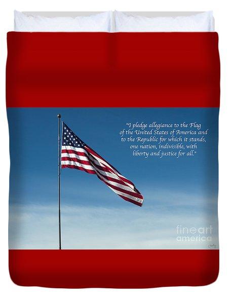 Pledge Of Allegiance Duvet Cover