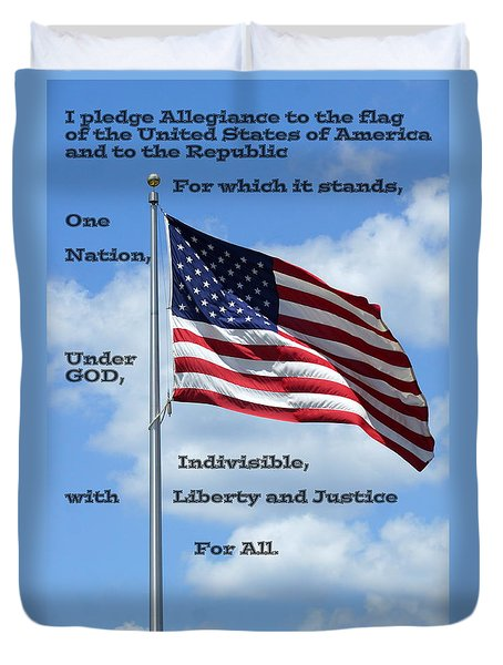 Pledge Of Allegiance Duvet Cover by Paul  Wilford