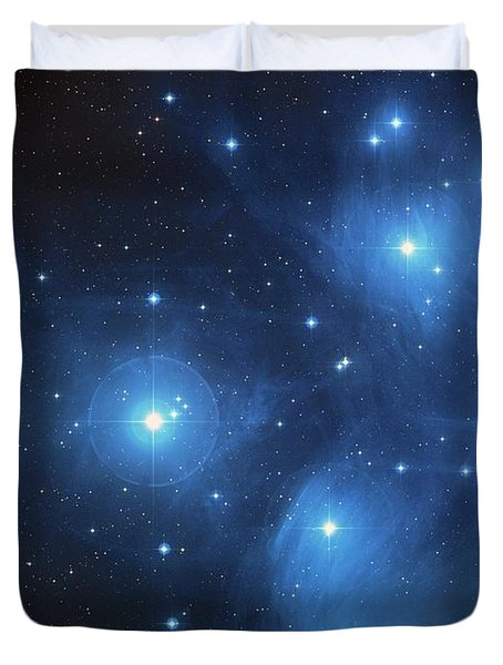 Pleiades - Star System Duvet Cover by Absinthe Art By Michelle LeAnn Scott