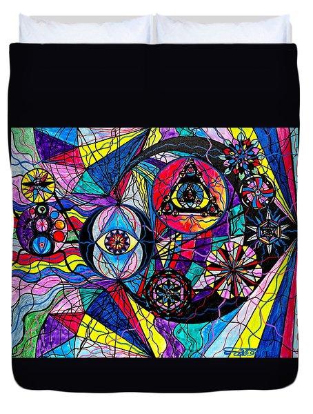 Pleiades Duvet Cover by Teal Eye  Print Store