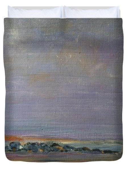 Plum Island State Of Mind Duvet Cover