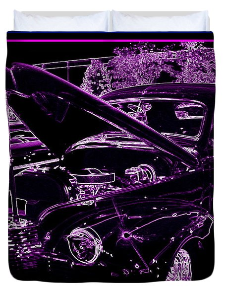 Duvet Cover featuring the digital art Plum Perfect by Bobbee Rickard