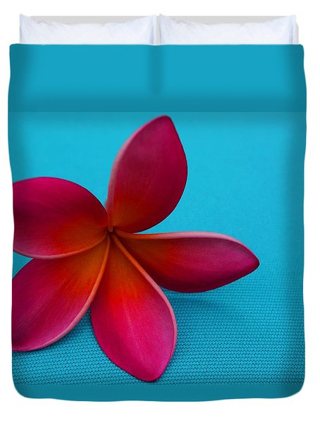 Duvet Cover featuring the photograph Plumeria by Julia Ivanovna Willhite