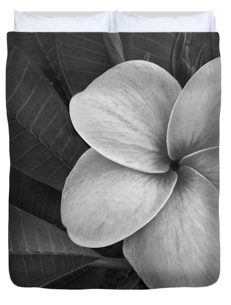 Plumeria With Raindrops Duvet Cover