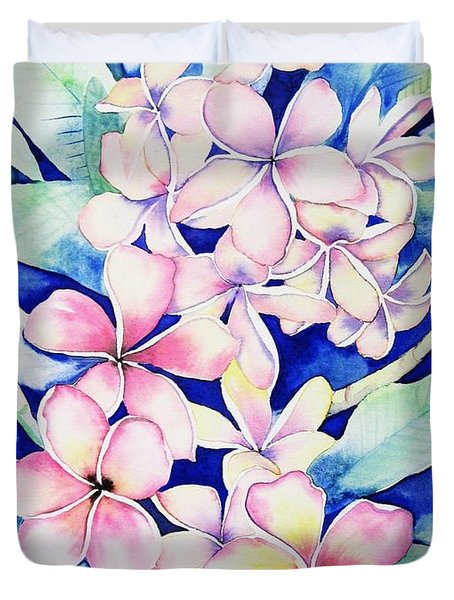 Plumerias Of Maui Duvet Cover