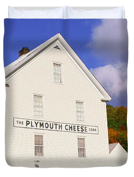 Plymouth Cheese Corporation In Autumn Duvet Cover