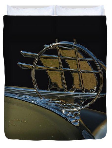 Plymouth Schooner Hood Ornament Duvet Cover