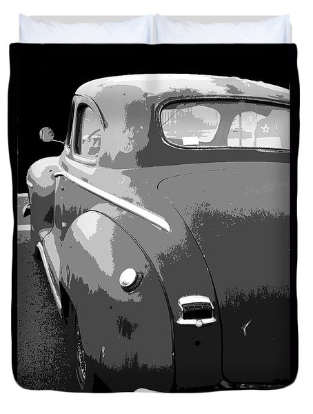 Plymouth The Car Duvet Cover by Ben and Raisa Gertsberg
