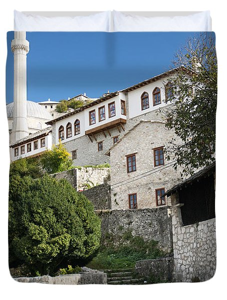 Pocitelj Village Near Mostar In Bosnia  Duvet Cover