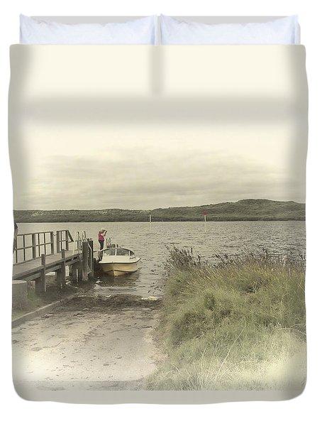 Poddy Shot Ramp Duvet Cover by Elaine Teague