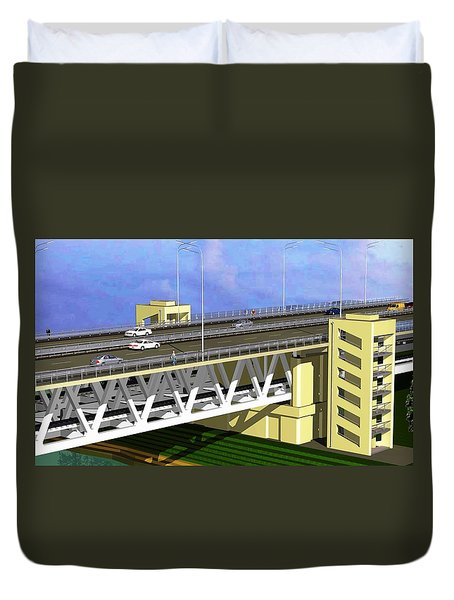 Podilsky Bridge Duvet Cover