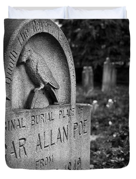 Poe's Original Grave Duvet Cover by Jennifer Ancker