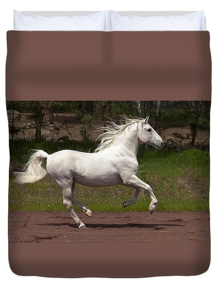 Duvet Cover featuring the photograph Poetry In Motion D5809 by Wes and Dotty Weber