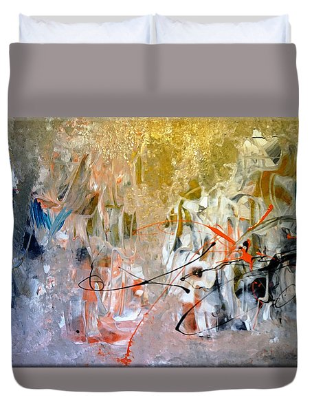 Duvet Cover featuring the painting Poetry by Lisa Kaiser