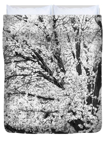 Duvet Cover featuring the photograph Poetry Tree by Roselynne Broussard