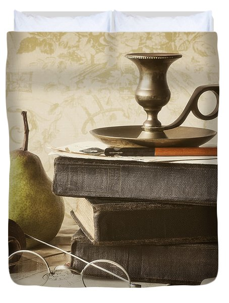 Poet's Corner Duvet Cover by Amy Weiss