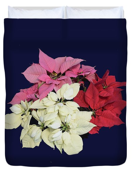 Poinsettia Tricolor II Duvet Cover