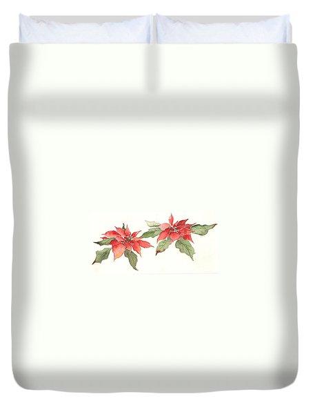 Poinsettias Duvet Cover