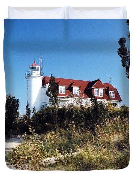 Point Betsie Lighthouse Duvet Cover