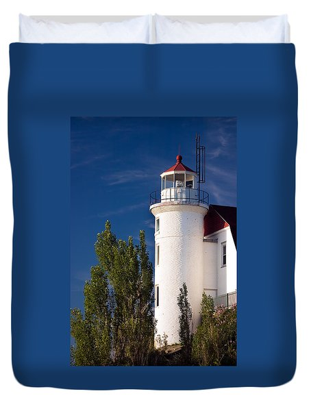 Point Betsie Lighthouse Michigan Duvet Cover