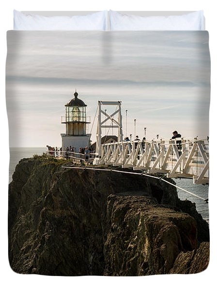 Point Bonita Lighthouse Duvet Cover by Georgia Fowler