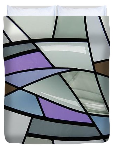 Point Grey Abstract Duvet Cover by Gilroy Stained Glass