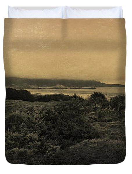 Point Lobos - An Antique Take Duvet Cover by Angela A Stanton