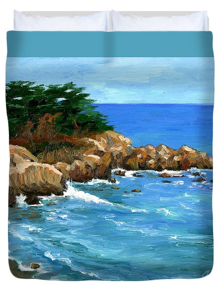 Point Lobos Coast Duvet Cover