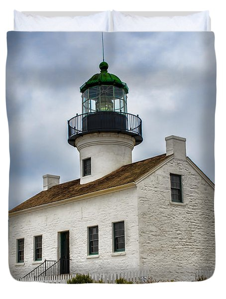 Point Loma Lighthouse Duvet Cover