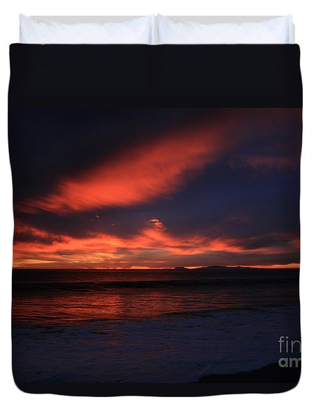 Point Mugu 1-9-10 Just After Sunset Duvet Cover