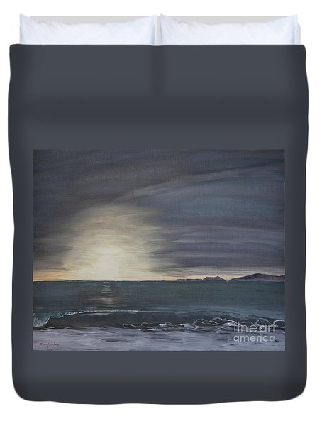 Point Mugu Sunset Duvet Cover
