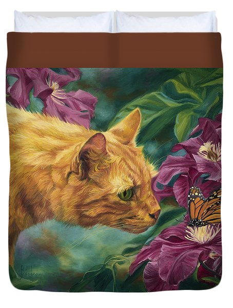 Point Of Interest Duvet Cover by Lucie Bilodeau
