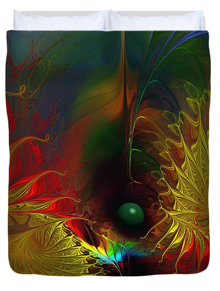 Point Of No Return-abstract Fractal Art Duvet Cover