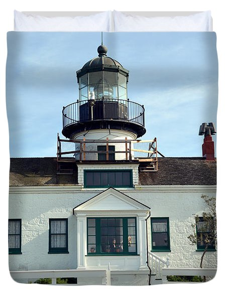 Point Pinos Lighthouse Duvet Cover by Barbara Snyder