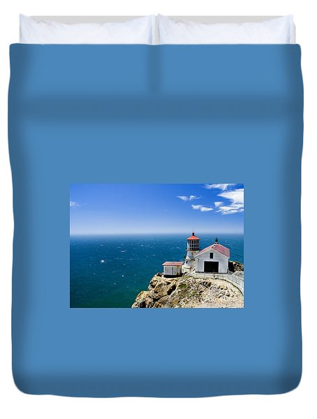 Point Reyes Lighthouse California Duvet Cover